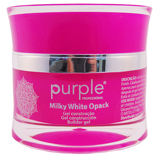 Milky White Opack UV gel by Purple 30gram