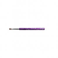 Purple Gel Brush 6 Flat Decorated