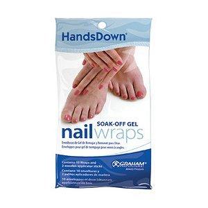 Soak off gel nail wraps pack 10