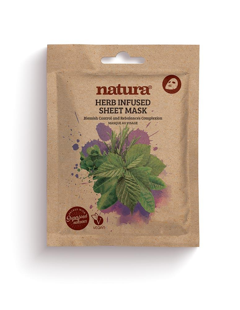 Natura Mask Herb Infused Sheet Mask