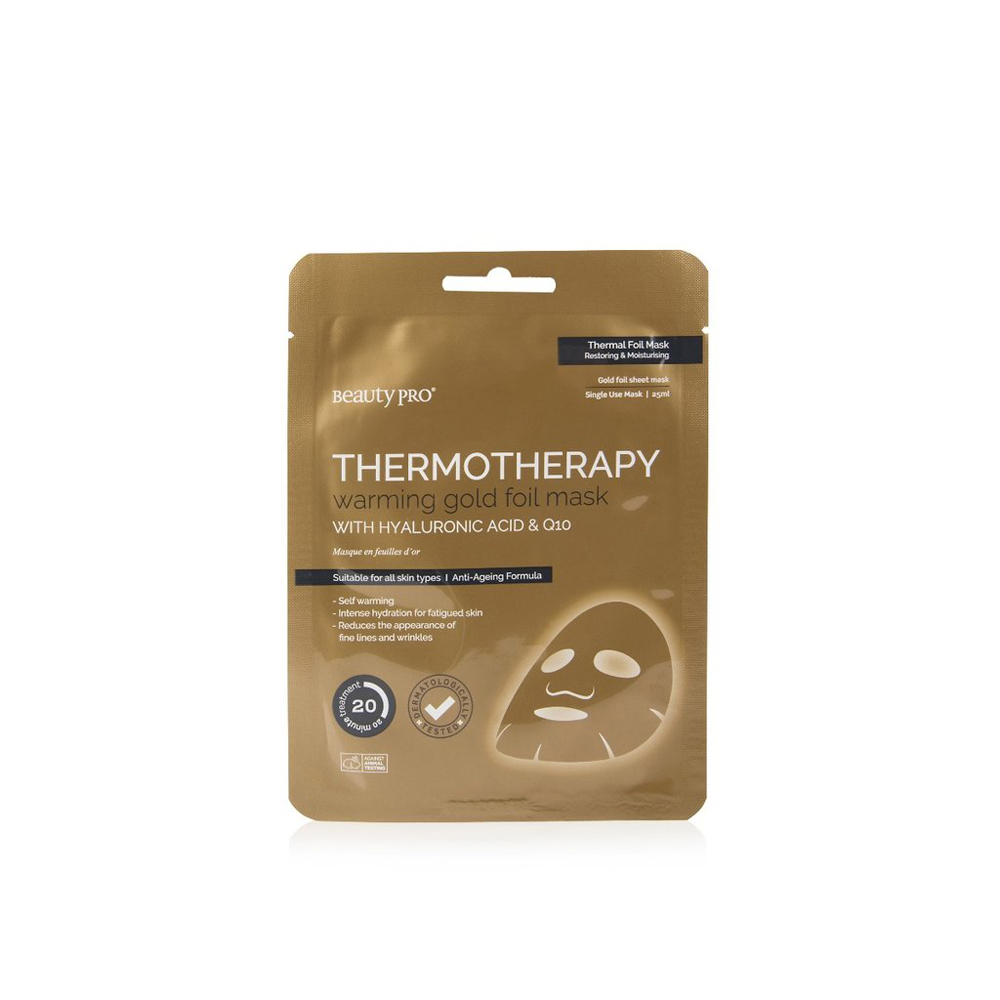 BeautyPro Thermotherapy Gold Foil Mask