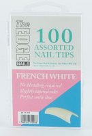 The Edge Nails French White Tips 100 asstd (boxed)