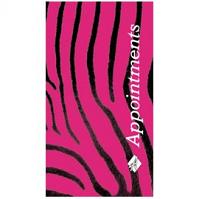 zebra 3 column appointment book