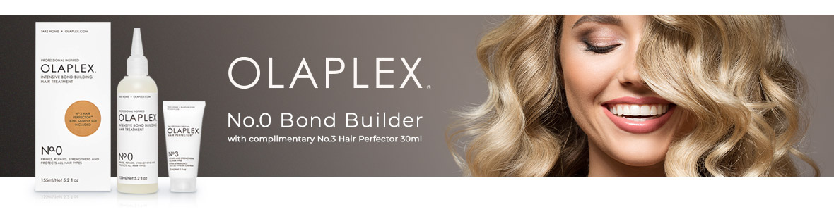 Olaplex No.0 Bond Builder Launch Kit with No.3 30ml sample. Click here to buy now!